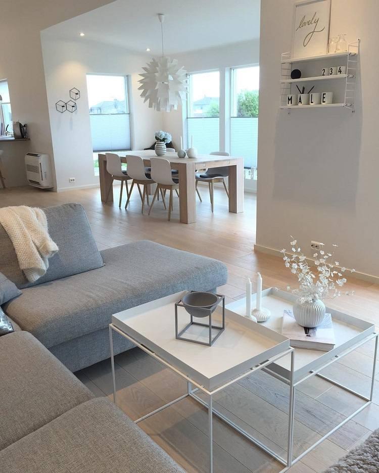 Salon blanc et gris un tas de nouvelles inspirations