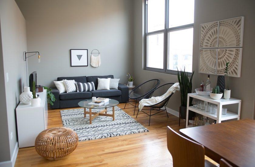 Salon gris et blanc Blog décoration d intérieur Clem