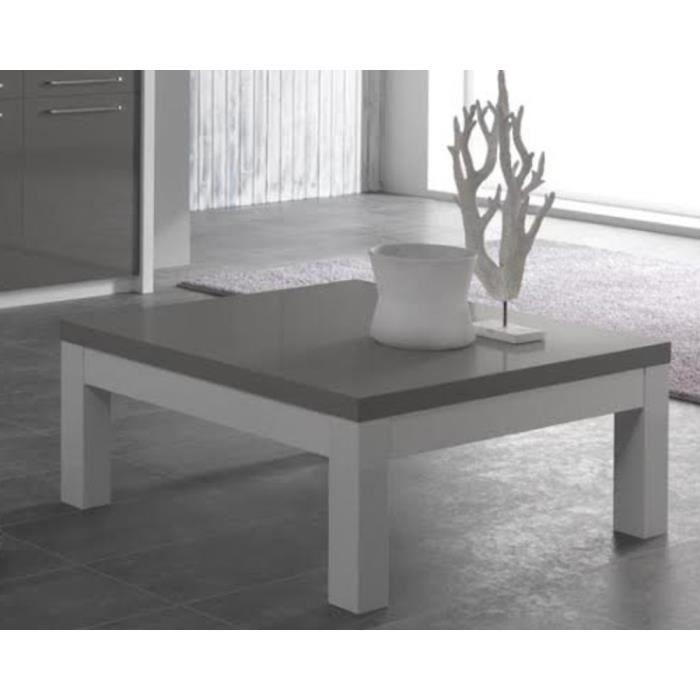 Table basse salon blanc et gris Achat Vente pas cher