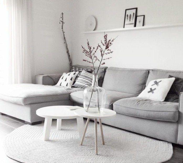 Un salon en gris et blanc c est chic Voilà 82 photos qui