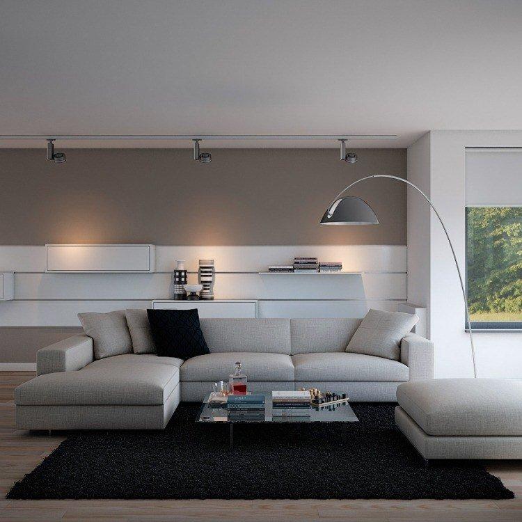 Déco salon gris avec canapé tout confort 55 idées pour vous