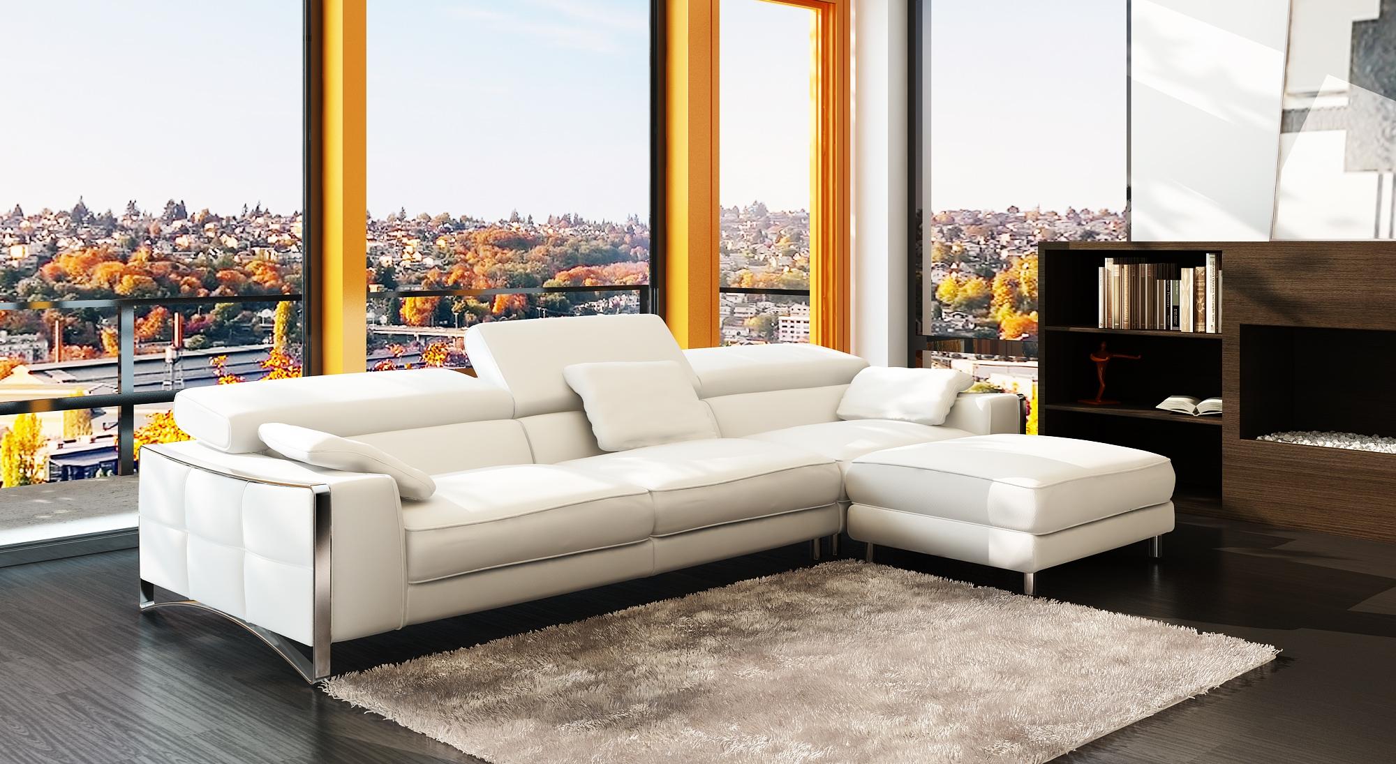 Salon Cuir Blanc Concept