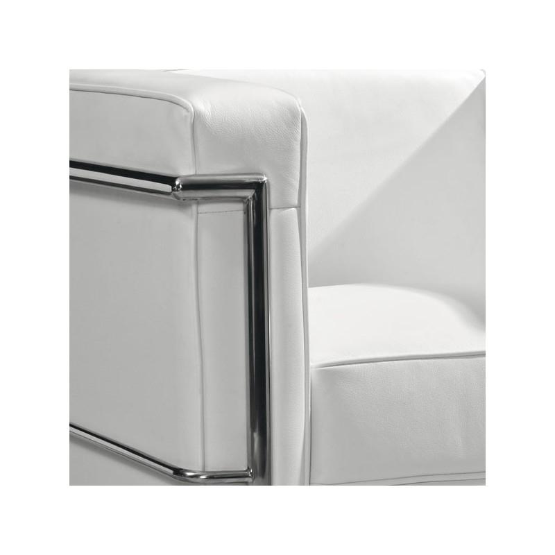 Salon Cuir Blanc Fauteuil Cuir Blanc Chic Design Chrome Corbs Univers Des