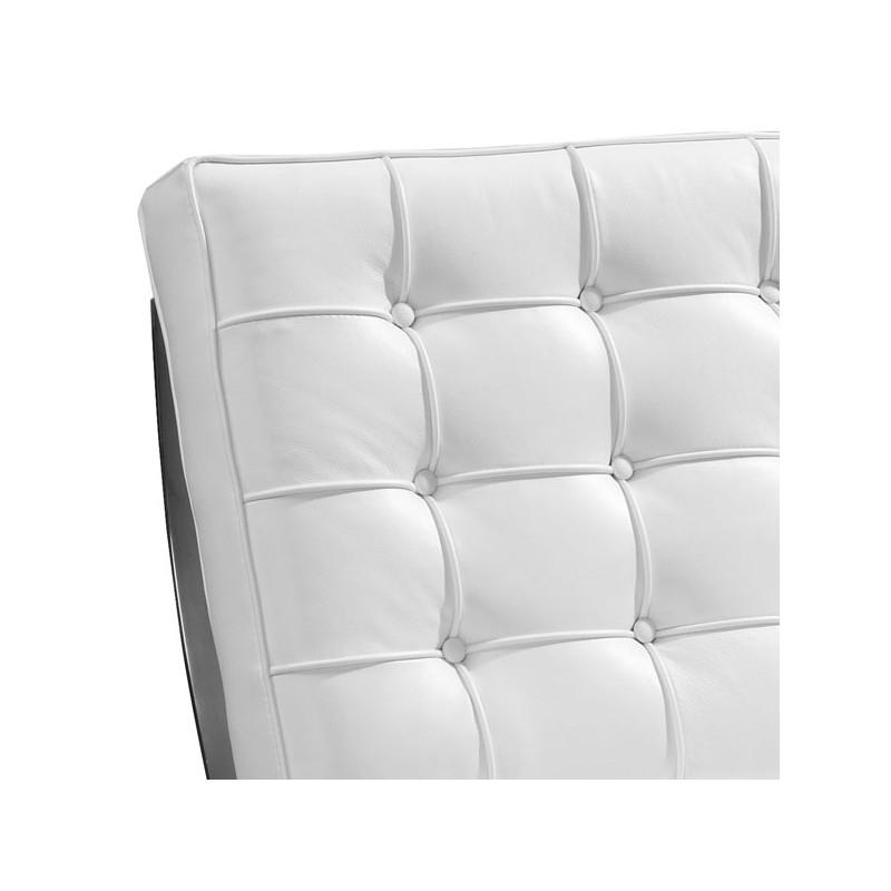 Fauteuil Cuir Blanc Chrome Design Chic BARCELON Univers