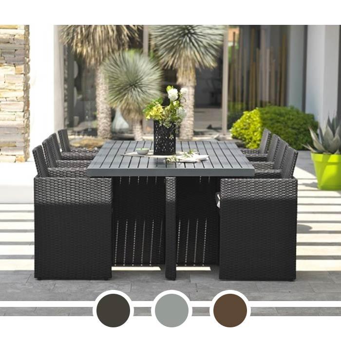 Salon de jardin DCB Encastrable plateau en aluminium 8