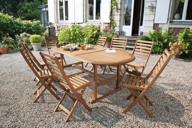 Salon de jardin en bois Cabanes abri jardin