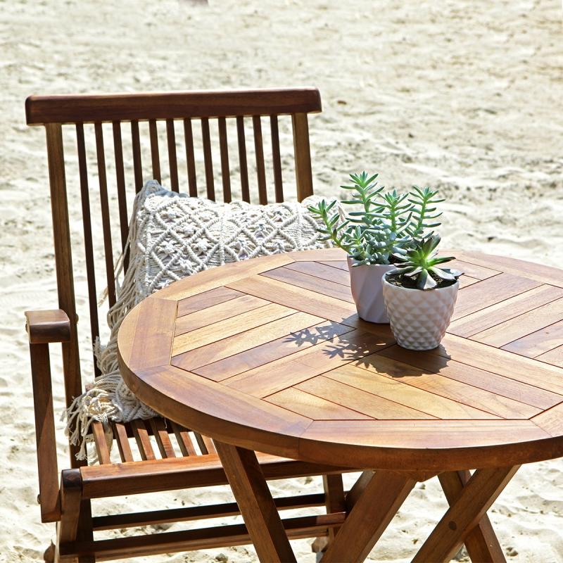 Salon de jardin en bois de teck huilé BALI 2 4 places