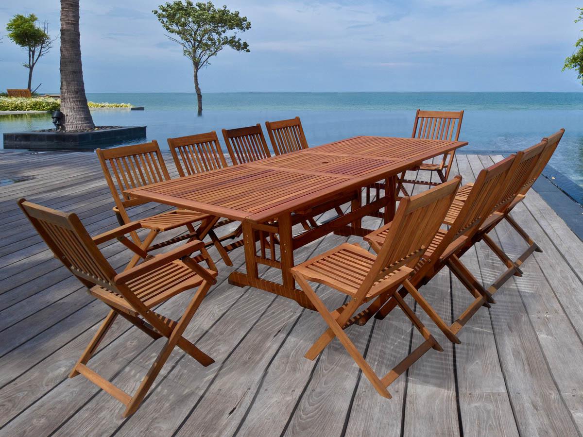 "Salon de jardin en bois exotique Osaka ""Bali"" 1 table"