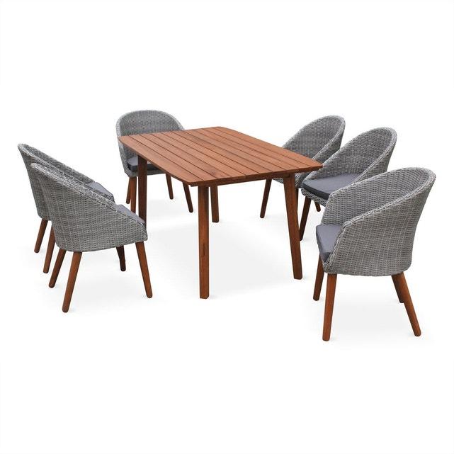 Salon de jardin huesca design scandinave eucalyptus fsc