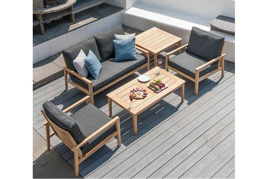Table basse en bois pour salon de jardin 120 cm haut de gamme