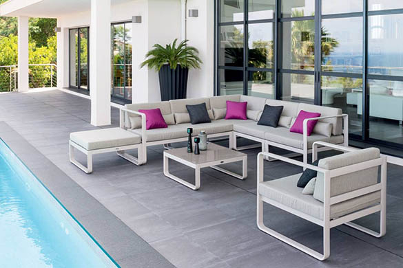 Salon de jardin aluminium Hesperide modèle Absolu à prix mini