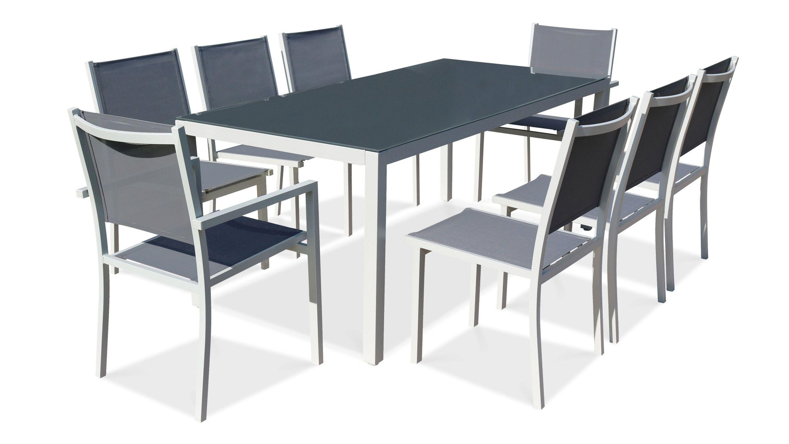 Salon de jardin aluminium table de jardin 8 places