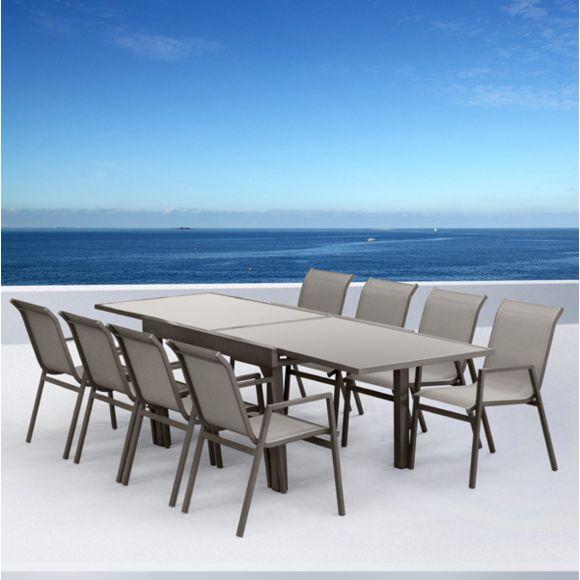 Sunrise Salon de jardin aluminium Marbella pas cher