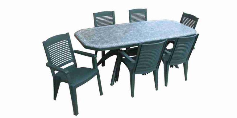 Salon de jardin en plastique table et chaise de jardin pas - Table de jardin tresse pas cher ...