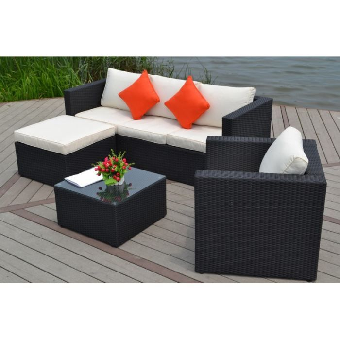 Salon De Jardin En Resine Salon De Jardin En Resine Tressee 5 Places Milano Achat
