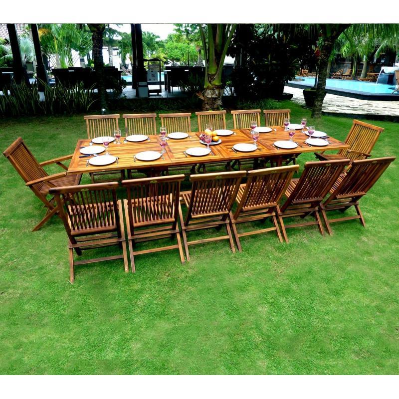 ensemble de jardin en teck huilé mobilier de jardin table