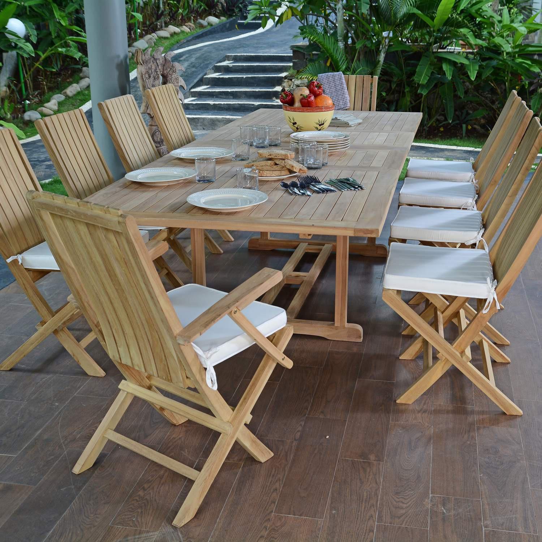 Salon de jardin en teck qualité Ecograde Bornéo 10 12 places
