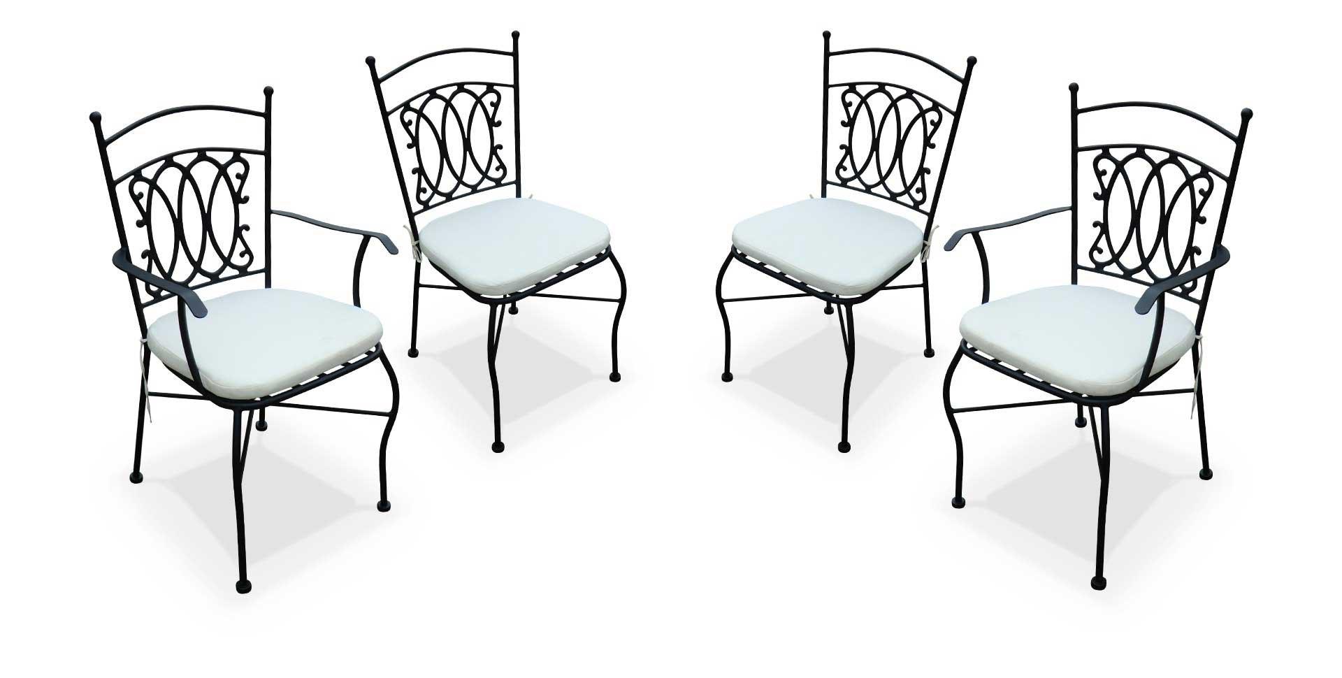 Cuisine Paire De Chaises En Fer Forgé Salon De Jardin