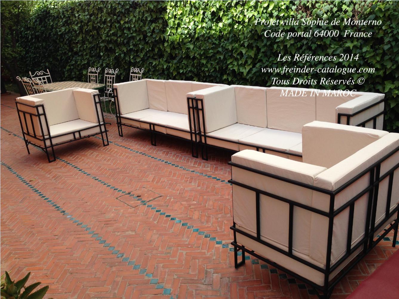 Salon de jardin en fer moderne Mailleraye jardin