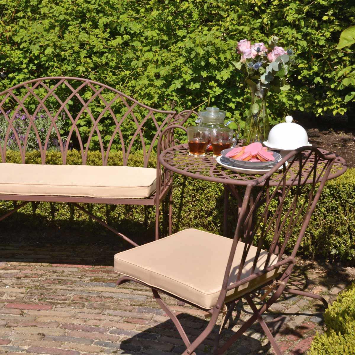 Salon de jardin Sophia en acier style fer forgé vente au