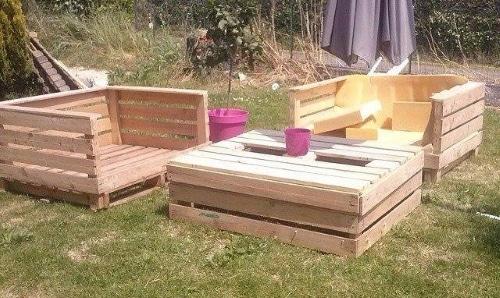 Idées déco des salons de jardin en bois de palettes