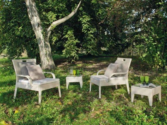 Salon jardin en résine tressée par Atmosphera Italy