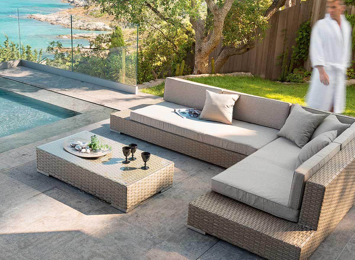 salon de jardin en aluminium solde