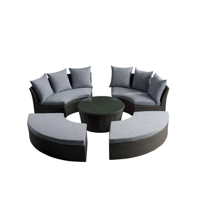 Salon de jardin RILASA rond modulable 2 canap… Achat