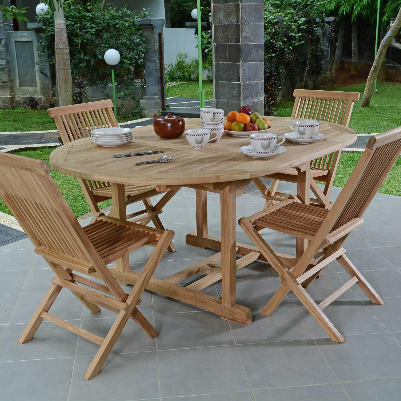 Salon de jardin en teck Ecograde© Wesport table ronde