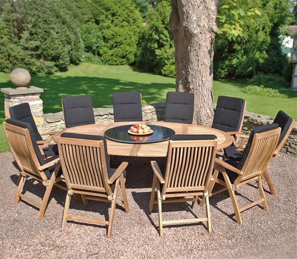 Salon de jardin table ronde en solde Mailleraye jardin