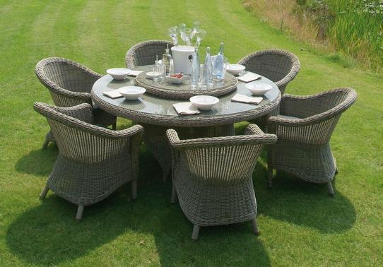 Salon de jardin table ronde resine n15