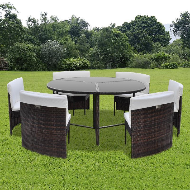 Salon jardin table ronde