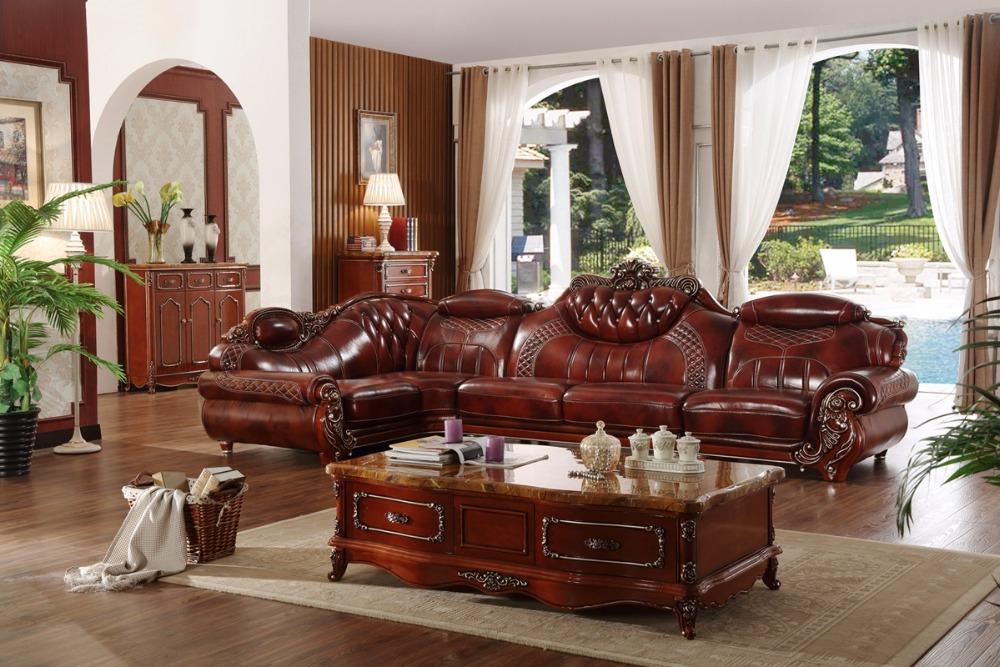 Américain canapé en cuir ensemble salon canapé Chine cadre