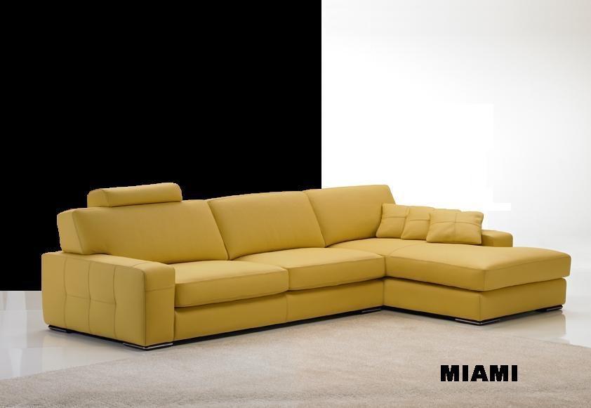 Canapé d angle moderne en cuir Miami Magasin de meubles