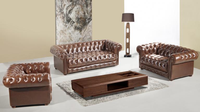 Salon Vivaldi cuir bycast Canapés 3 et 2 places fauteuil