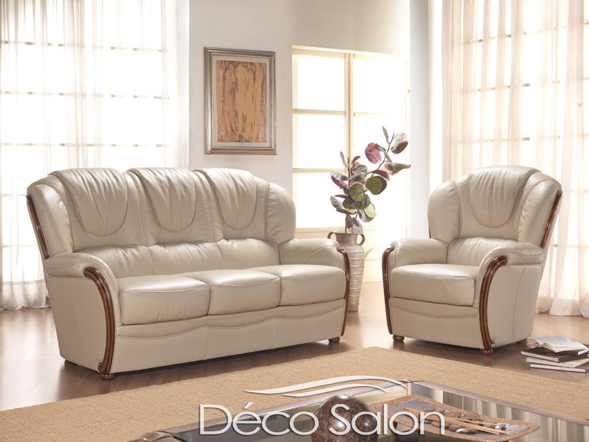 """""""Salon classique en cuir Diego """""""