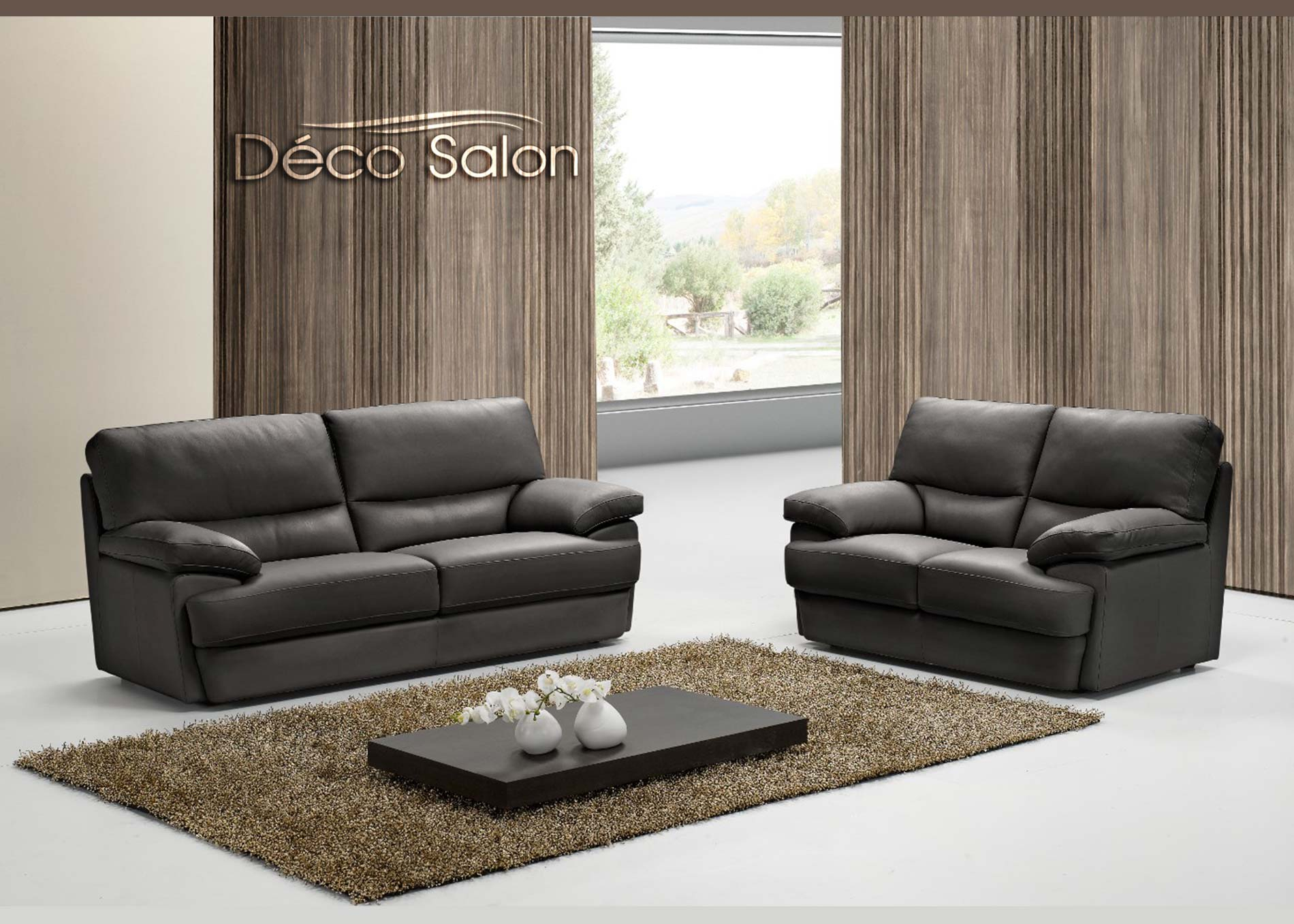 """Salon en cuir moderne Bianca """