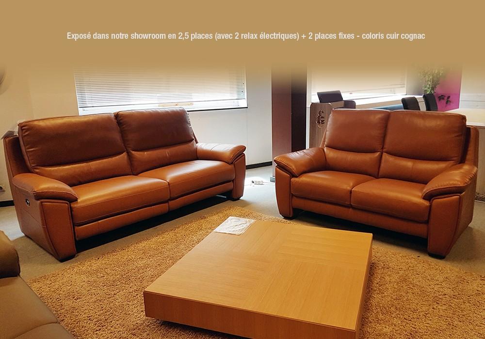 Salon Baba en cuir avec relax électriques