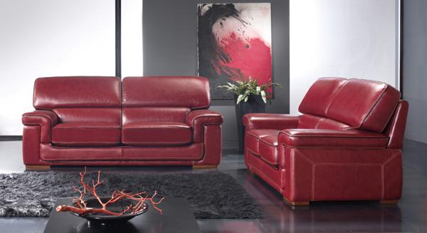 Salon en cuir bordeaux photo 3 10 Une couleur un peu