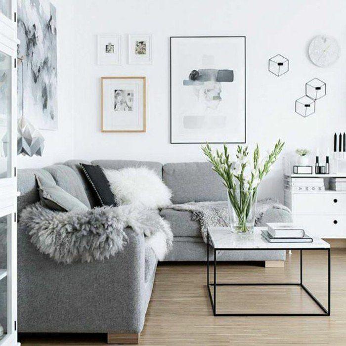Salon Gris Et Blanc Un Salon En Gris Et Blanc C Est Chic Voilà 82 Photos Qui