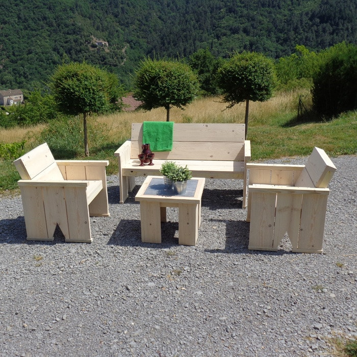 Fabriquer un salon de jardin en bois – seaandsea