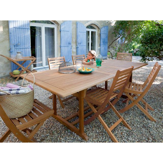 Salon de jardin en bois Aland Salon de jardin Castorama