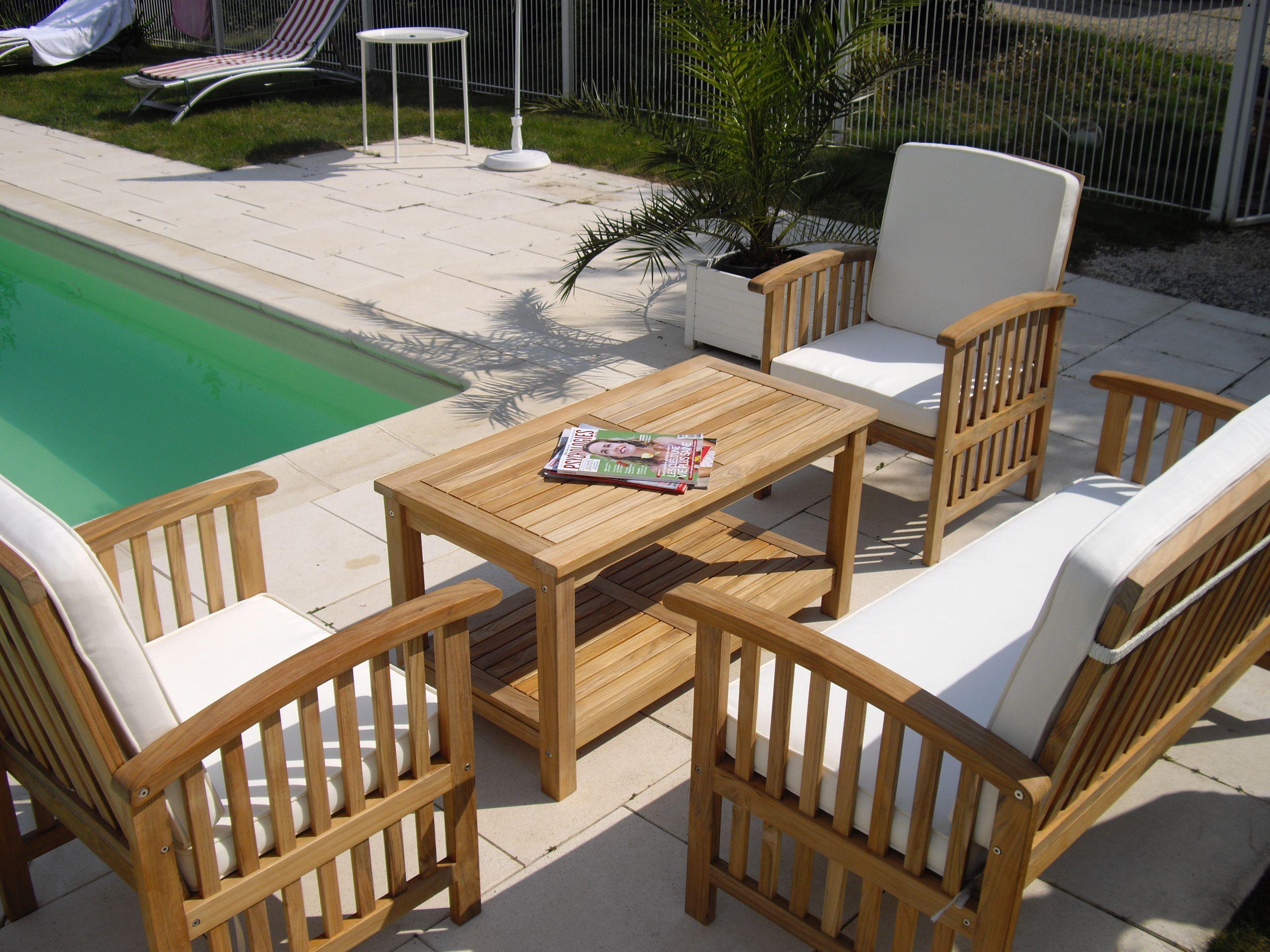 Salon Jardin Bois Concept | Idees Conception Jardin