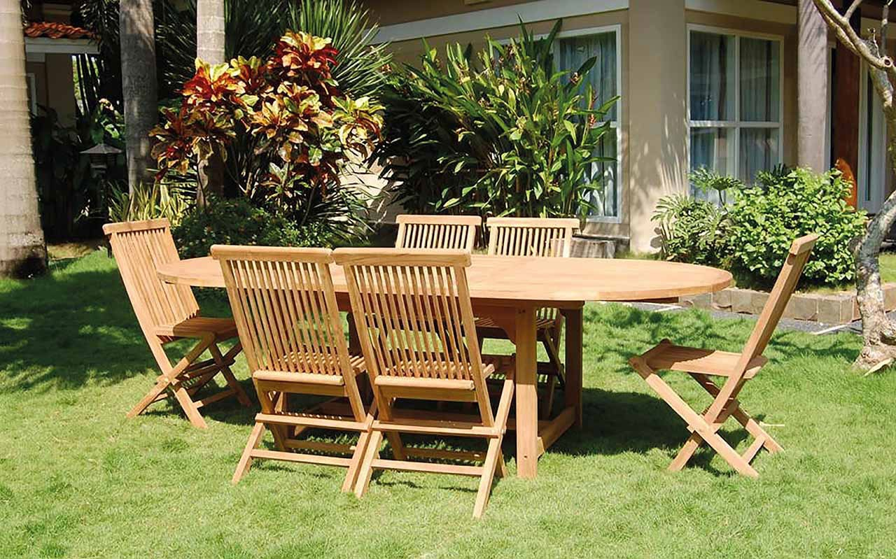 Salon de Jardin en Teck Bois Homemaison vente en