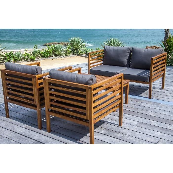 Salon jardin bois mobilier de jardin
