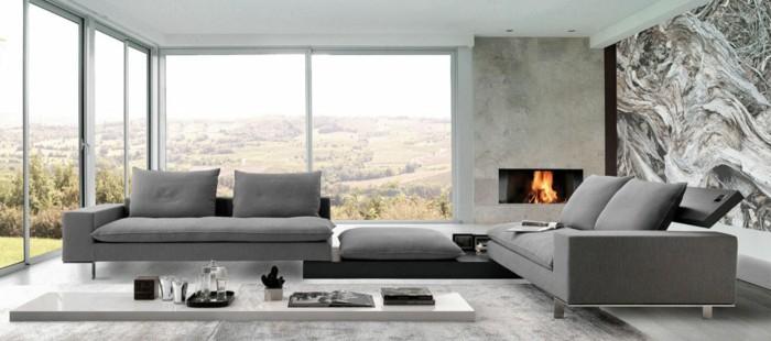 Salon Moderne Gris Le Canapé Design Italien En 80 Photos Pour Relooker Le Salon