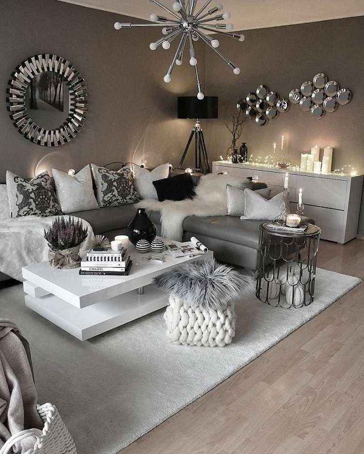 Salon Moderne Gris Salon Blanc Et Gris Un Tas De Nouvelles Inspirations - Idees Conception ...