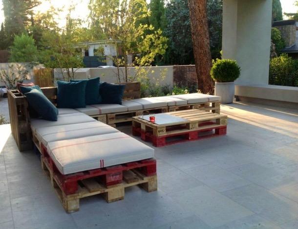 Salon Palette Bois Salon De Jardin Marocain