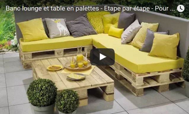 Salon De Jardin En Palette Plan Canapé Palettes