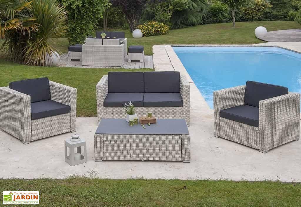 Salon de Jardin Résine Tressée Oceane 4 pièces DCB Garden